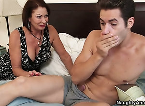 Sexy mature woman Vanessa Videl makes her man very happy
