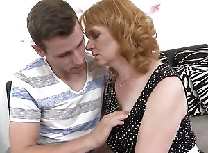 Sexy mature redhead loves fucking her sexy young step son