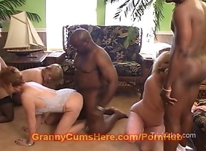 Interracial orgy clips
